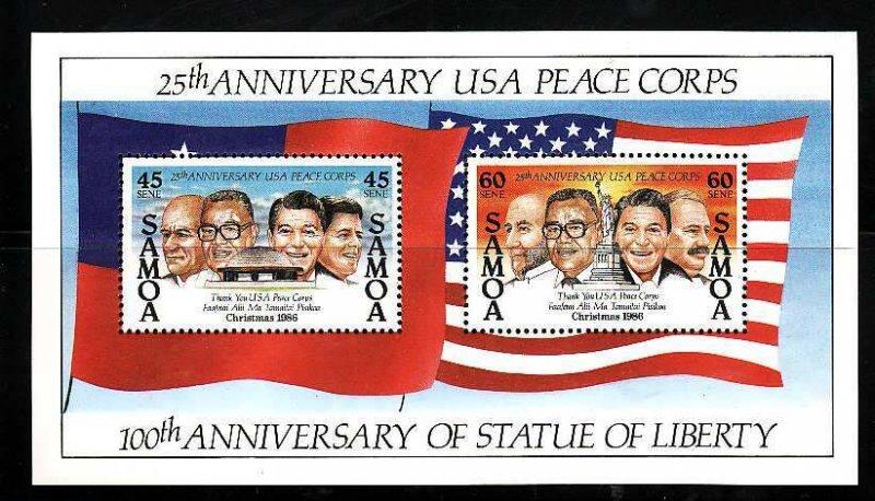 Samoa MNH S/S 686a Peace Corps 1986