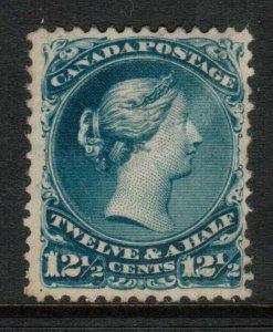 Canada #28 Mint Fine - Very Fine+ Full Original Gum Hinged - Minor Gum Disturb
