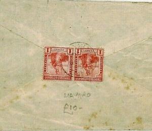 Trinidad & Tobago 1919 *Mayaro* Cover CDS Postmark USA {samwells-covers} CS242