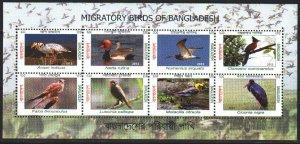 Bangladesh. 2012. Birds fauna. MNH.