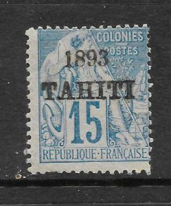 TAHITI  1893  15c  MOUCHON   MLH     SG 37