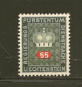 Liechtenstein O42 Official MNG