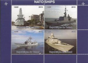 Chad MNH S/S NATO Ships 2015