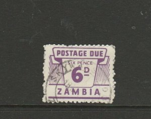 Zambia 1964 Dues 6d Used SG D15