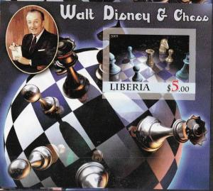LIBERIA SHEET IMPERF DISNEY CHESS