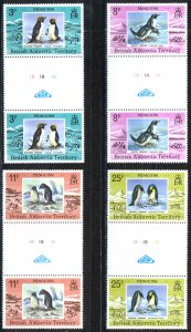 British Antarctic Territory Sc# 72-75 MNH Gutter Pairs 1979 Penguins