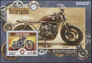 Sierra Leone. 2015. Transportation - Motorcycles (MNH OG) Souvenir Sheet
