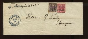 Guam Scott 6 & 7 Overprint Used Stamps on Nice Cover to Saipan Mariana Islands