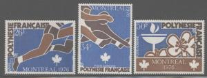 French Polynesia 1976 Olympic Games set Sc# C134-36 NH