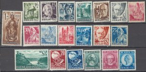 COLLECTION LOT OF #1104 RHINE OCCUPATION 20 UNUSED NO GUM STAMPS 1947+