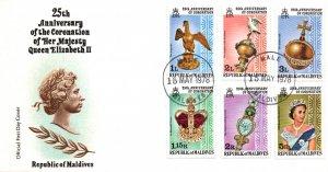 Maldive Islands 743-748 U/A FDC