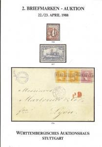 Wurttembergisches: Sale # 2  -  Briefmarken - Auction, Sa...