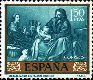 Spain 1960  Painters Murillo Holy Family with Bird MNH**