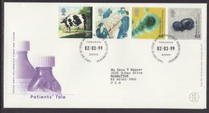 Great Britain 1847-1850 Patients Tale 1999 Typed FDC