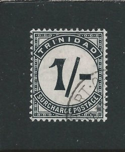 TRINIDAD & TOBAGO POSTAGE DUE 1905-06 1s BLACK FU SG D17 CAT £45