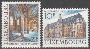 Luxembourg #695-6 MNH F-VF  (SU3701)