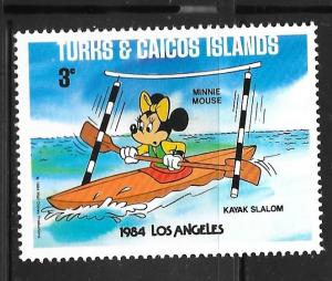 Turks and Caicos 624: 3c Minnie Mouse, MH, VF