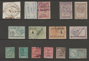 France Colonies revenue Fiscal stamp 11-9-20 Indo china+- couple small faults?