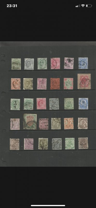 COLLECTION OF VERY EARLY INDIA STAMPS DISPLAYED ON STOCKCARD (SEPT14A)