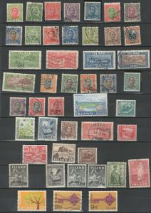 Iceland stamp collection *