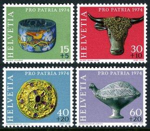 Switzerland MNH B422-5 Archaeological Treasures 1974