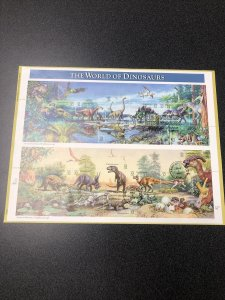 USPS  FDC 3136 The World Of Dinosaurs Souvenir Sheet 1997 First Day Of Issue