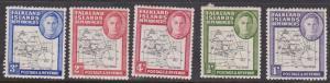 Falkland Islands Dependencies - 1946 Maps 5 Values mint #IL1-5