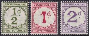 Bechuanaland 1932 SC J4-J6 MLH Set