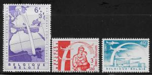 BELGIUM SC# B669-71  FVF/MLH 1960