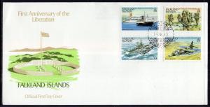 Falkland Islands 375-378 Anniversary Liberation U/A FDC