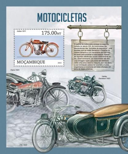 Mozambique MNH S/S Motorcycles 2013