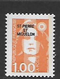 ST. PIERRE & MIQUELON, 525, MNH, FRANCE OVPTD ST. PIERRE ET MIQUELON