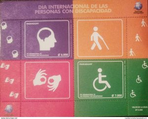 RO) 2018 PARAGUAY, INTERNATIONAL DAY OF PEOPLE WITH DISABILITIES-DISABLED, MNH