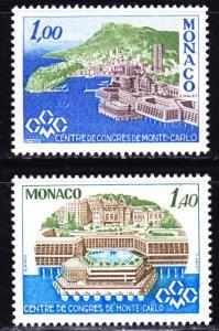 Monaco Scott 1107-1108    complete set  VF mint OG NH.