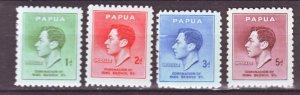 J22187 Jlstamps 1937 papua new guinea set mnh #118-21 king