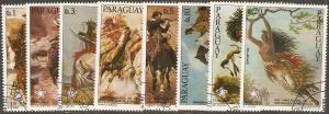 1976 Paraguay Scott 1694a-1694g,1695  U.S. Bicentennial used
