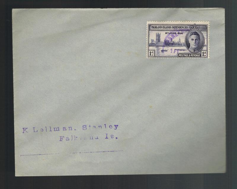 1946 Port Stanley Falkland Islands First day Cover  FDC Peace Issue