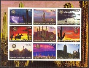 Congo 2003 Cactus Rotary sheet MNH Cinderella !