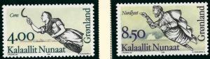 Nice Greenland #273-274 MNH VF...Kalaallit is Hot now!