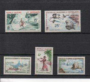 New Caledonia 318-320,C29-C30 MNH