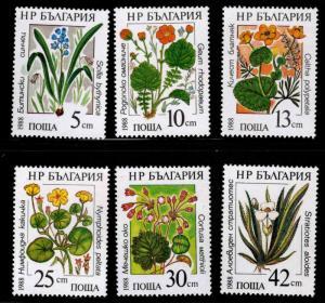 Bulgaria MNH 3300-5 Marine Flowers 1988