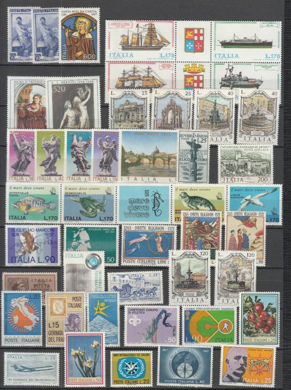 Italy - small stamp lot - MNH