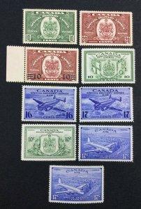 MOMEN: CANADA SG # 1938-46 MINT OG H £ LOT #7115