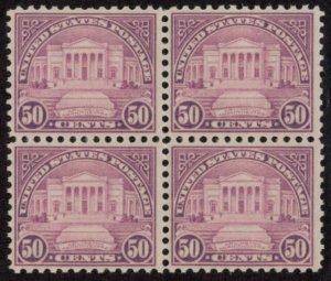USA SC #701 MNH B4 1931 50c Amphitheater CV $200.00