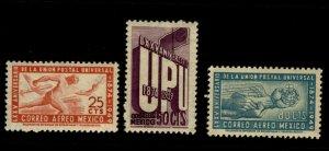 Mexico 1950 75th anniv. (in 1949) of the UPU Set Scott MNH