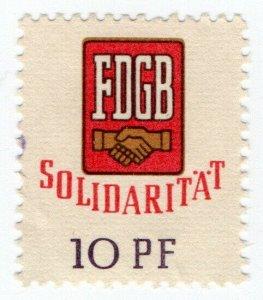 (I.B) East Germany Revenue : FDGB Union Dues 10pf (Solidarity)