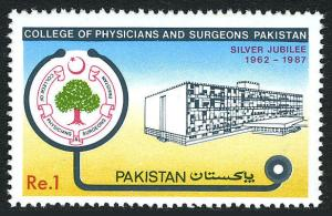 Pakistan 686, MNH. College of Physicians and Surgeons, 25th anniv. 1987
