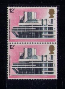 Great Britain MNH Sc #744 HORIZONTAL PAIR - (1975) UK Famous Buildings