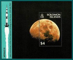 Solomon Islands 1989 Moon Landing, MS MNH #647,SGMS656