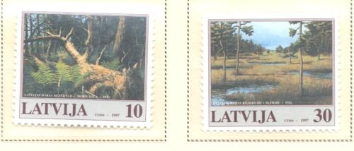 Latvia Sc 452-3 1997 Nature Preserves stamp set mint NH
